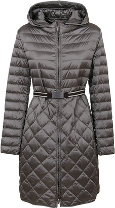 Max Mara Grey Technical Fabric Padded Jacket
