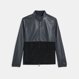 Theory Reversible Jacket in Leather