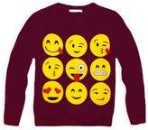 Jollyrascals Girls Emoji Sweatshirt New Kids Emoticons Smiley Face Jumper