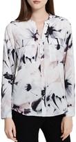 Calvin Klein Abstract Floral Print Blouse