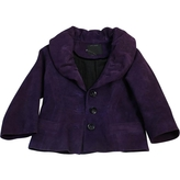 Marc Jacobs Purple Suede Jacket