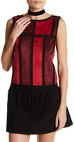 Romeo & Juliet Couture Patchwork Woven Tank