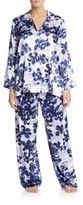 Oscar de la Renta Satin Pajama Set