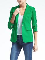 Banana Republic Green Lightweight Wool One-Button Blazer