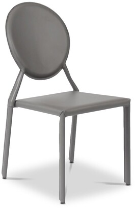 Apt2B Valencia Ave All Leather Side Chair GRAY - SET OF 2