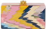 Edie Parker Jean Rippled Resin Clutch Bag, Pink