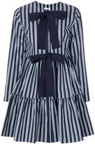 P.A.R.O.S.H. striped bow front dress