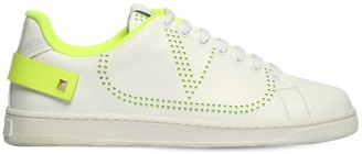 "Valentino ""Backnet"" Leather Sneakers"
