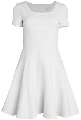 Rebecca Taylor Chevron Flare Dress