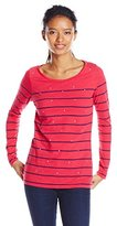 U.S. Polo Assn. Juniors' Long-Sleeve Stripe and Sparkle Bling T-Shirt