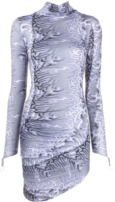 MAISIE WILEN Abstract-Print Fitted Dress