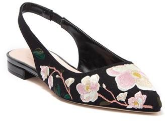 Kate Spade Barnie Floral Embroidered Slingback Flat