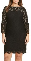 Lauren Ralph Lauren Plus Size Women's Scalloped Lace Sheath Dress