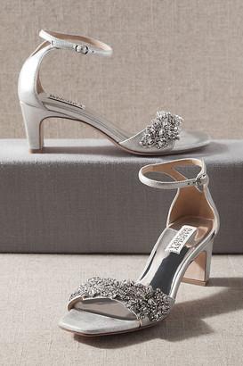 Badgley Mischka Alison Heels By in Silver Size 6.5