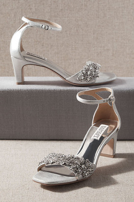 Badgley Mischka Alison Heels By in Silver Size 7