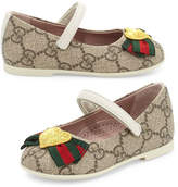 Gucci GG Supreme Heart Mary Jane Flat, Toddler Sizes 4-10
