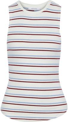 Frame Striped Ribbed-knit Tank