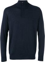 N.Peal The Regent fine gauge half zip sweater