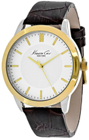 Kenneth Cole Classic 10024816 Men's Round Brown Leather Watch