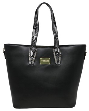 Bebe Clairee Two-Tone Snake Tote