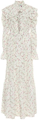 Philosophy di Lorenzo Serafini Floral cotton muslin maxi dress