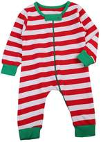 ITFABS Baby Boy Girl Pajamas Cute White and Red Striped Jumpsuit Wearable Blankets