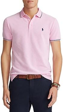 Polo Ralph Lauren Custom Slim Fit Color-Tipped Mesh Polo Shirt
