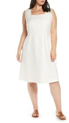 Lafayette 148 New York Spencer Cotton, Wool & Silk Dress