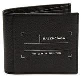 Balenciaga Tag-print Bi-fold Leather Wallet