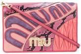 Miu Miu multi texture clutch