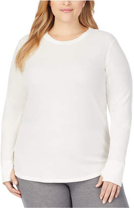 Cuddl Duds Women Plus Size Soft Stretch Thermal Top