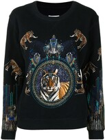 Thumbnail for your product : Camilla Dripping in Deco mix-print sweatshirt