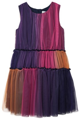 Charabia Multicoloured Tulle Dress (3-14 Years)