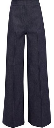Victoria Beckham Embroidered High-rise Wide-leg Jeans