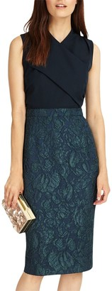 Phase Eight Jacqueline Jacquard Dress, Midnight/Black