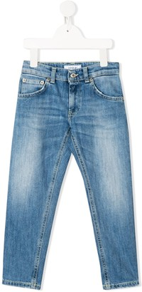 Dondup Kids Washed Tapered Jeans