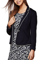 Yumi Nautical Stripe Fitted Blazer, Dark Navy