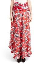 J.W.Anderson Women's Filigree Print Asymmetrical Maxi Skirt