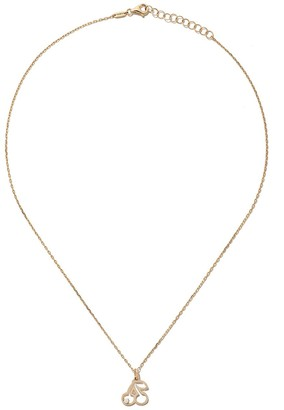 As 29 14kt yellow gold diamond Cherry necklace