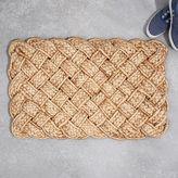 west elm Woven Knot Doormat - Gold