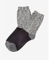 Express marled color block boot socks