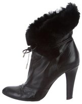 Marc Jacobs Fur-Trimmed Ankle Boots