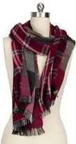Saachi Plaid Reversible Scarf.
