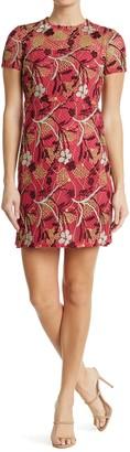 Valentino Abito Floral Embroidered Sheath Dress