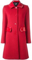 Love Moschino gloss detail coat - women - Cotton/Acrylic/Polyester/other fibers - 44