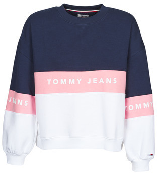 Tommy Jeans TJW COLORBOCK CREW women's Sweatshirt in Blue
