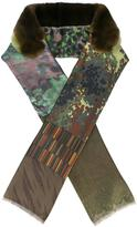 Pierre Louis Mascia Pierre-Louis Mascia - camouflage scarf - women - Silk/Orilag Fur - One Size
