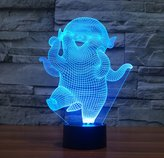 Bella House Hoba 3D ILLusion Night Light 7 Colors Changing Table Desk Deco Lamp Bedroom Children Room Decorative Nightlight for Kids
