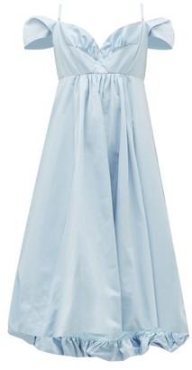 Simone Rocha Ruffled Taffeta Midi Dress - Blue