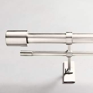 west elm Oversized Metal Double Rod - Polished Nickel